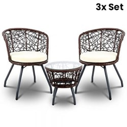 3X Outdoor Table and Chair